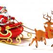 Santa sledge deers — Stock Photo #16048901
