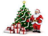 Santa strom s dárky — Stock fotografie