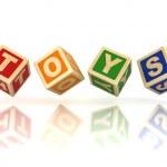 Toys wooden blocks — Stock Photo