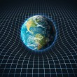 Earth s gravity bends space around it — Stock Photo #25800975