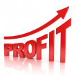 Stock Photo: Profit graph with arrow