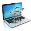 Online shopping 3d concept — Stock Photo