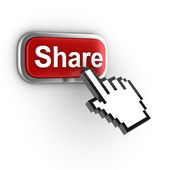 Share 3d button — Stock Photo