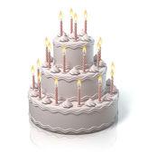 Birthday cake, anniversary cake — Stock Photo