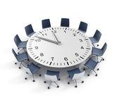 Round table meeting deadline — Stock Photo