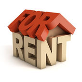 House for rent 3d icon — Stock Photo