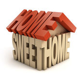 Home sweet home 3d letters — Stock Photo