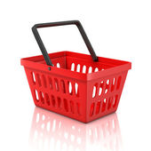 Shopping basket isolated on white background — Stock Photo