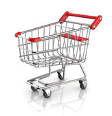 Shopping cart 3d icon — Stock Photo