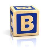 Letter b alphabet cubes font — Stock Photo