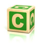 Letter c alphabet cubes font — Stock Photo