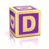Letter d alphabet cubes font — Stock Photo