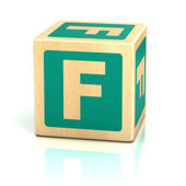 Letter f alphabet cubes font — Stock Photo