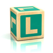 Letter l alphabet cubes font — Stock Photo