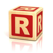 Letter r alphabet cubes font — Stock Photo