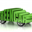 Green car 3d concept — Stock Photo #9965717