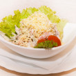 See  salad with cucumbers and tomatoes — Стоковая фотография