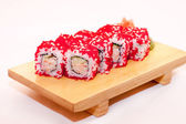 Sushi with flying fish roe — Stock Photo