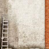 Zvětralé cihlová zeď na pozadí — Stock fotografie