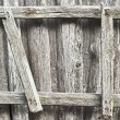 Stock Photo: Wooden ladder on the wall