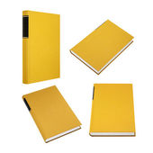 Yellow book in four different angles — Stock Photo