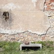 Cracked stucco wall — Stock Photo