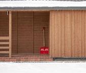Red shovel — Stock Photo