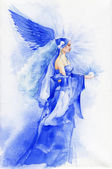 Beautiful fairy in blue — Stock Photo