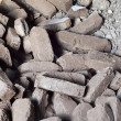 Peat briquettes background — Stock Photo