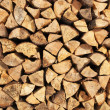 Stock Photo: Pile of wood logs