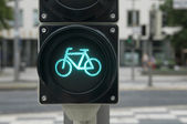 Green light for bicycle — Stock Photo