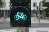 Luce verde per bicicletta — Foto Stock