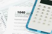 Formularz podatku dochodowego 1040 — Zdjęcie stockowe