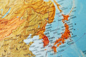 Map of Japan and Korea — Stock Photo