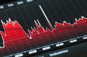 Burzovní graf — Stock fotografie