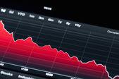 Stock market graph — Stock Photo