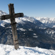 Summit Cross on Jenner Mountain — Stock Photo