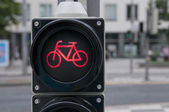 Red light for bicycle — Stock Photo