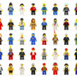 Постер, плакат: A group of fifty various lego mini figures