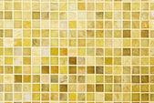 Texture: Beautiful yellow modern mosaic tile on wall. — Stock Photo