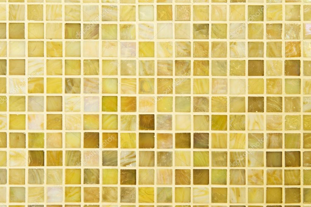 Texture: Beautiful yellow modern mosaic tile on wall