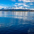 The Beagle Channel and Mountains — Stock Photo