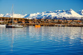 Ushuaia from the Beagle Channel — Stock Photo