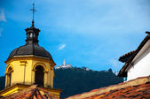 Yellow Church and Monserrate — Stock Photo
