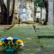 Flowers in a Cemetery — Stock Photo