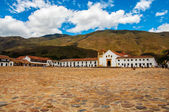 Villa de Leyva Town Square — Stock Photo
