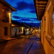 Stock Photo: Colonial Street at Night