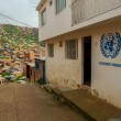 United Nations in a Slum — Stock Photo