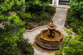 Fountain in Courtyard — Stock Photo