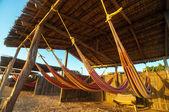 Redes de praia colorida — Foto Stock